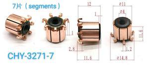 5 шт. 4x11x12 (11,6) 7P Электрический коллектор двигателя CHY-3271-7