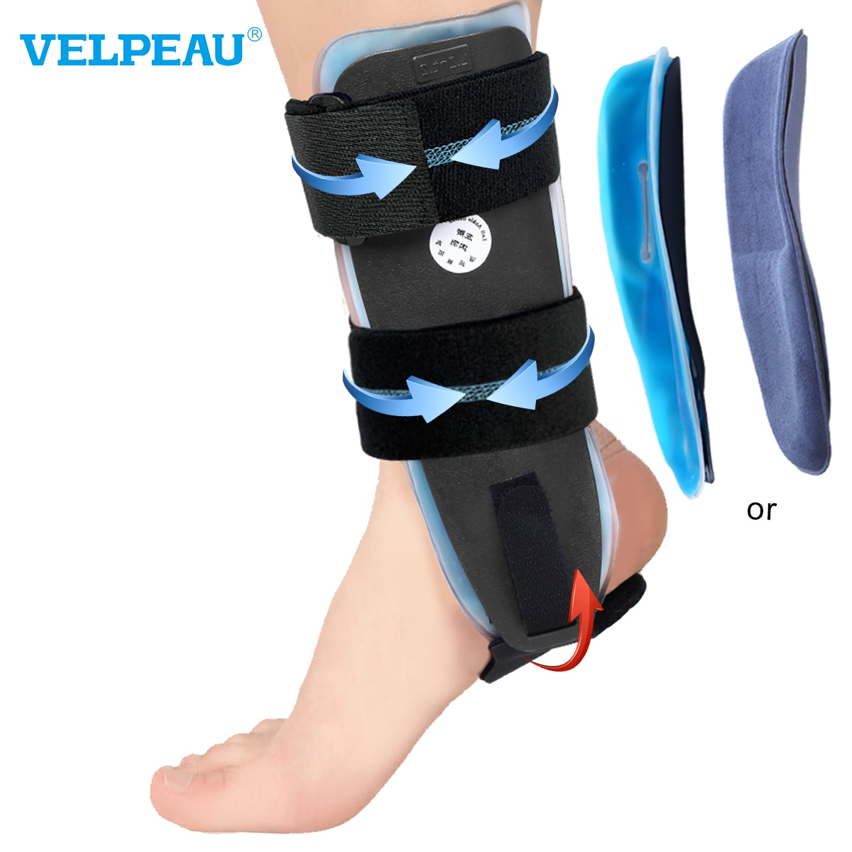 VELPEAU Ankle Support Adjustable Splint For Casts After Sprained Tendonitis Surgery Ankle Protector