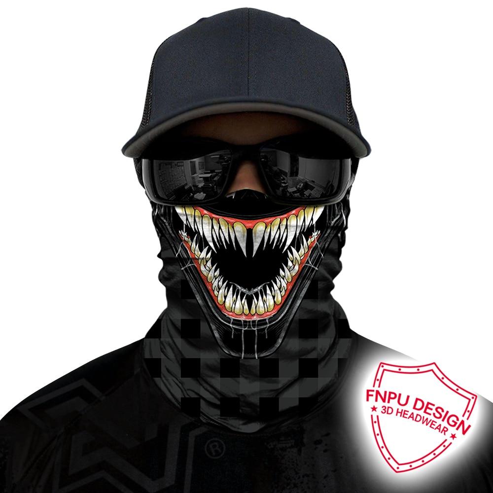 3D Venom cyclisme Bandana Cosplay masque extérieur cou Buffs bandeau pêche randonnée écharpes Yoga chapeau de sport masques de Ski