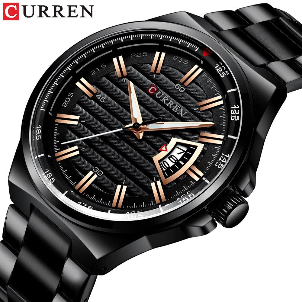Marca de Luxo Quartzo à Prova Presentes para Homem Curren Relógio Masculino Casual Esporte Negócios Relógios Dwaterproof Água Militar 8