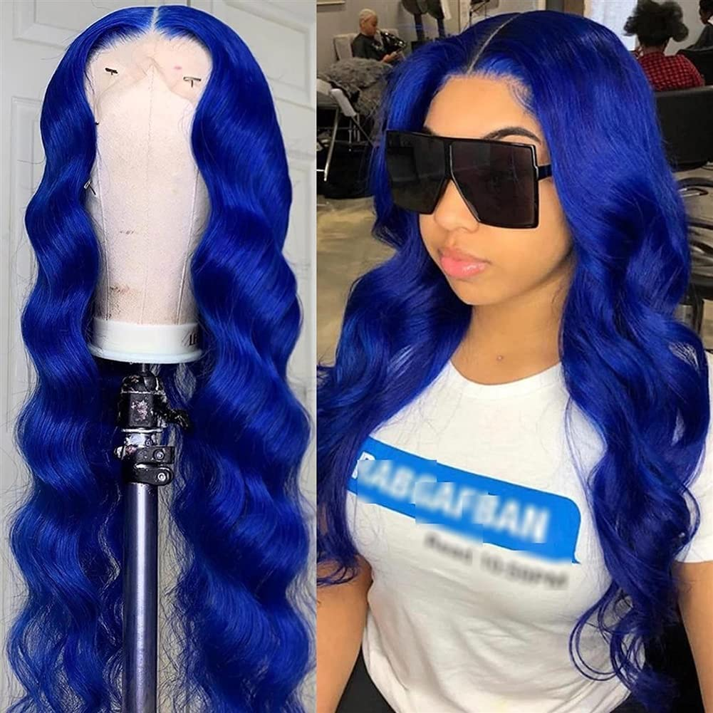 613 Blonde Lace Front Wig Body Wave Blue Human Hair Wig 613 Transparent Lace T Part Lace Wig With Baby Hair Peruvian Remy Hair