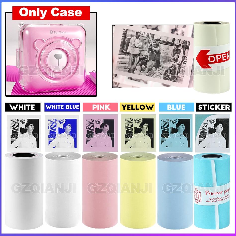 Etiqueta adhesiva de papel térmico Color blanco 58*30mm para 203 304 Dpi Peripage foto Mini impresora Bluetooth de bolsillo para Android iOS