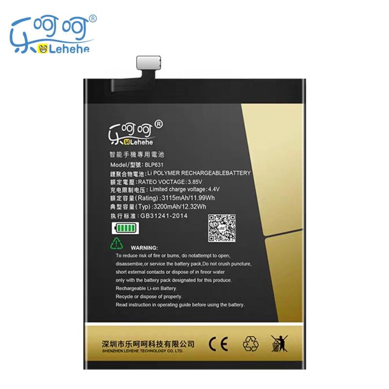 Nuevo LEHEHE BLP631 batería OPPO A73 A77 3200mAh Smartphone baterías de repuesto con herramientas regalos