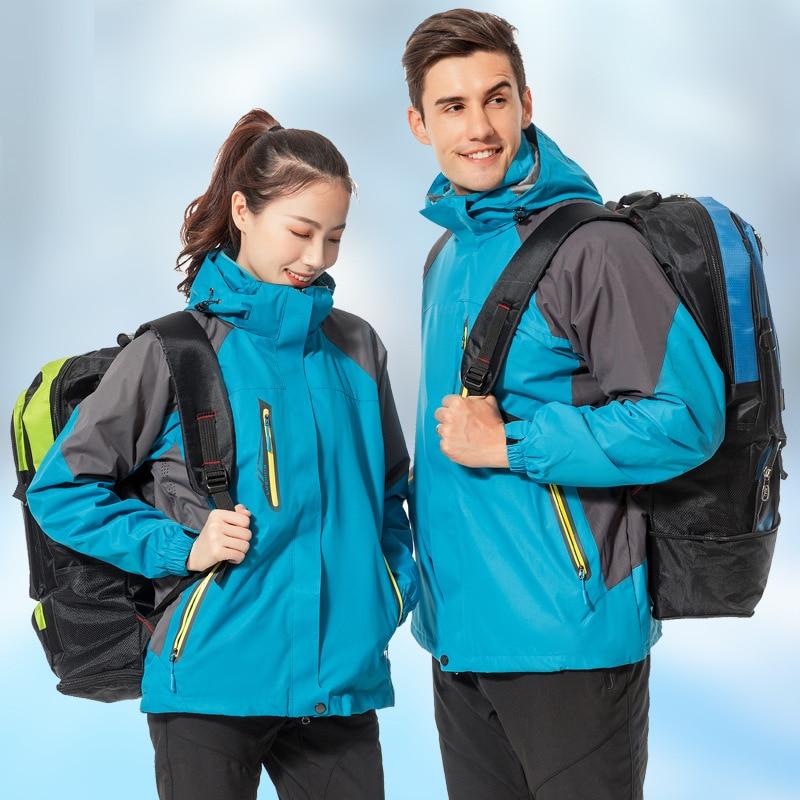 Parka de invierno para hombre y mujer, cortavientos de terciopelo grueso y cálido, chaqueta de esquí con capucha, chaquetas Anorak de invierno