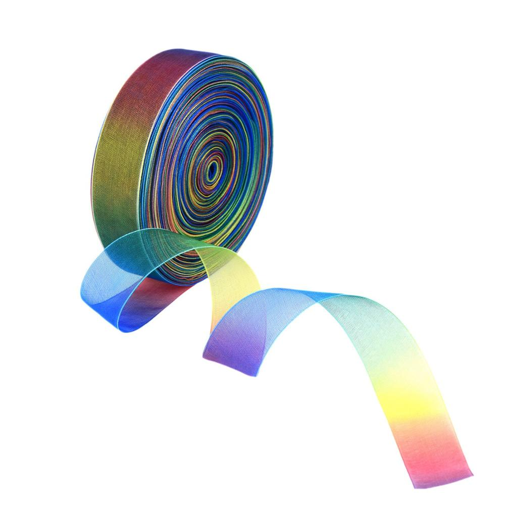 5yards The Rainbow Color Organza Ribbons Wedding Decoration G0004