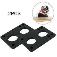 2pcs longboard riser pads 6mm risers skateboard old school black shock absorption skate boards truck pads hoverboard accessories