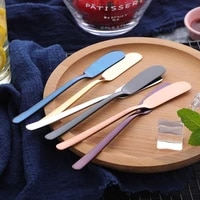 304 stainless steel butter metal knife cheese dessert cake paver bread knife butter spatula western food bread tableware