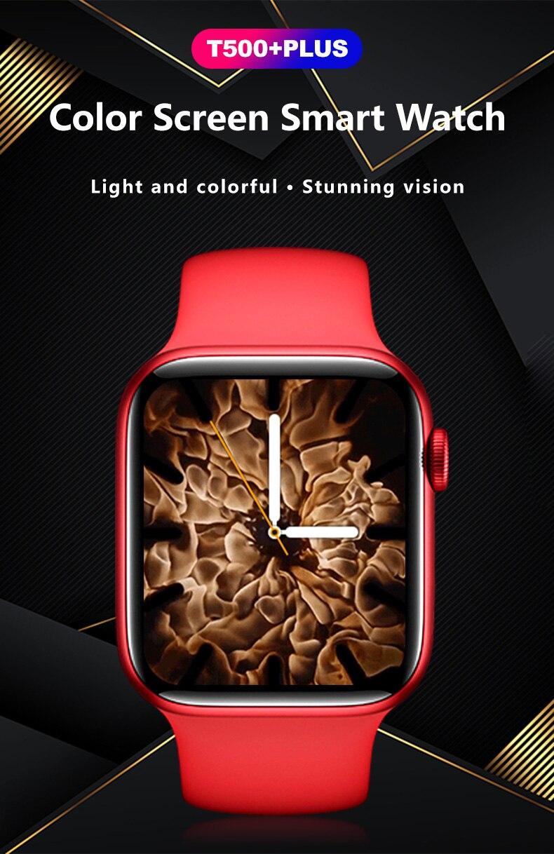 "H87f7aa5789c948b7b0c5477b46f97afaW 2021 IWO 13 MAX Smart Watch T500+ plus 1.75""HD Bluetooth Calls Custom Wallpaper Heart Rate Monitor Sport Smartwatch PK W46 W26"