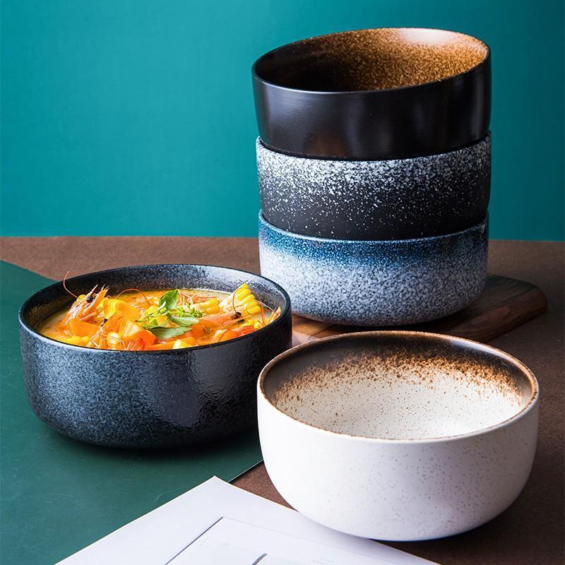 النمط الياباني السيراميك طبق للنودلز مطعم وعاء الحساء ramen الغذاء الفاكهة وعاء الأرز أدوات المائدة مطعم المطبخ أداة