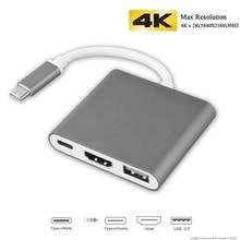 Adaptateur USB C mobile vers HDMI pour Macbook Pro/Air Thunderbolt 3 moyeu USB de Type C vers HDMI 4K USB 3.0 Port USB-C