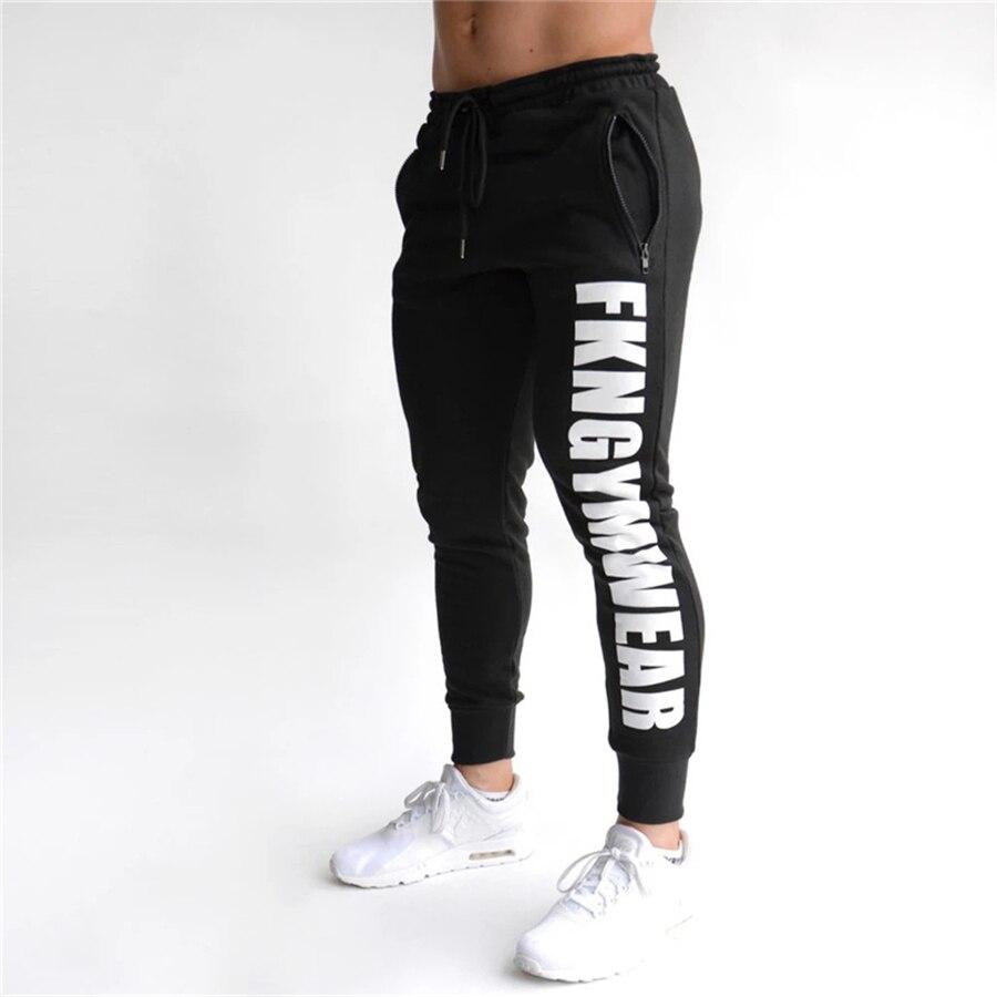 2021 Autumn Gyms Men Pants Joggers Skinny Pencil pants printing Tights Sweatpants For Men Casual Dra