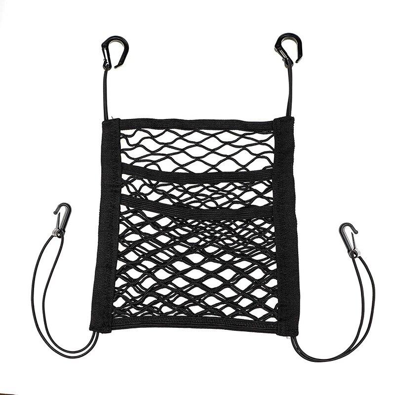 3-camada de malha do carro organizador assento volta net saco barreira para sacos de animais de estimação crianças carga tecido bolsa titular motorista armazenamento rede bolsa
