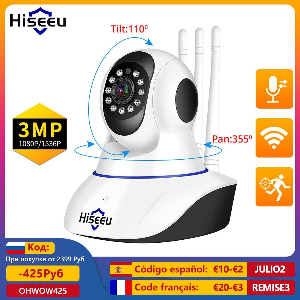 Hiseeu 1536P 1080P IP كاميرا واي فاي اللاسلكية الذكية كاميرا مراقبة للمنزل 2-Way الصوت CCTV Pet كاميرا 720P مراقبة الطفل