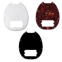 1pc 34 ply scratch plate pickguard for mm stingray electric bass replacement neck cut parts accessories advanced red tortoise