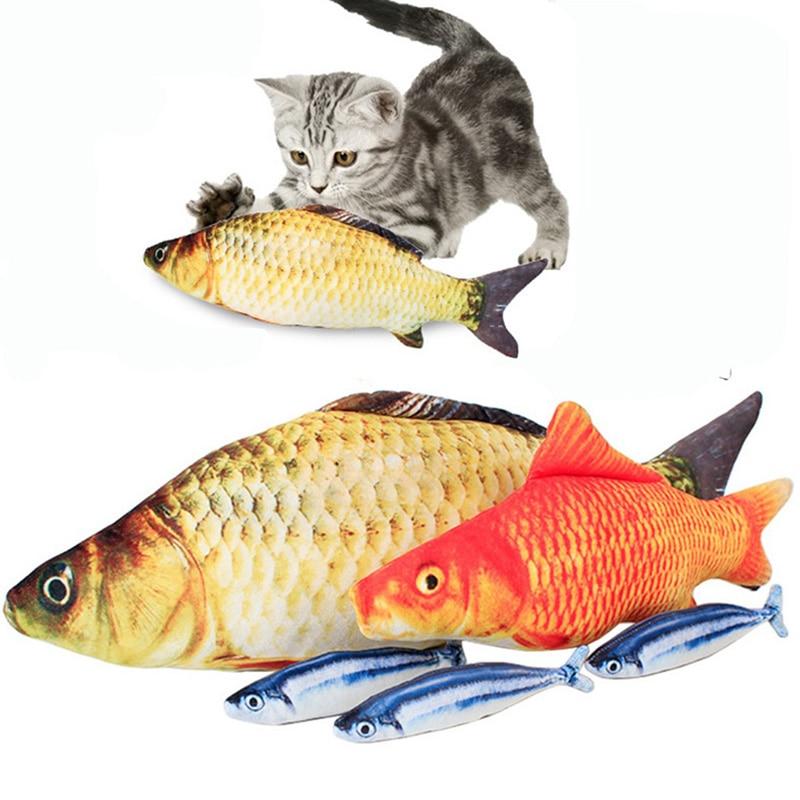 Pez de imitación de 40 Cm, juguetes de animales de peluche, almohada de hierba de carpa, divertido Gato bonito gato Pusheen para Zsw