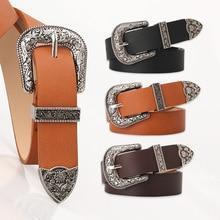 2020 New Ladies Belt, All-match Fashion Carved Buckle Decorative Belt, Elegant Retro Pin Buckle Belt