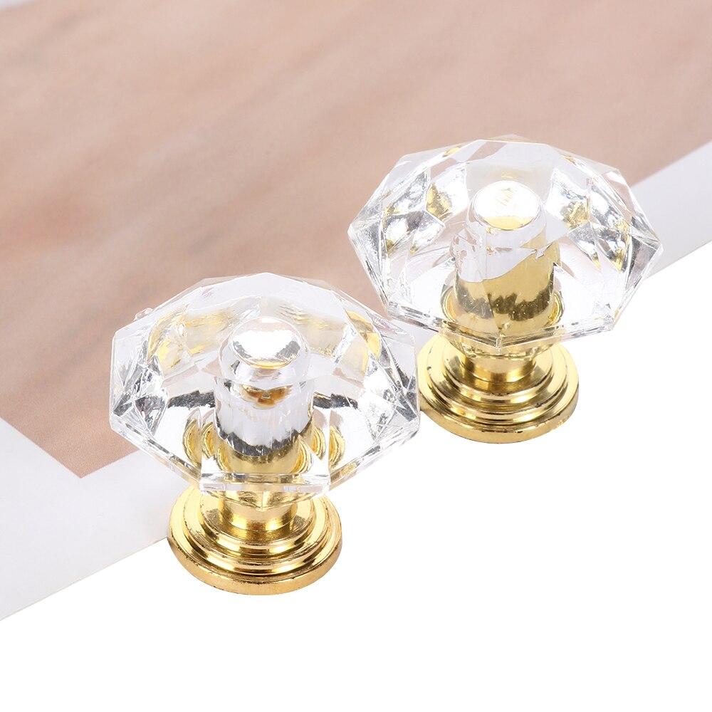 Pomos acrílicos de cristal, pomo para puerta con tirador de cajón de armario, pomo para puerta con forma de diamante, accesorios para muebles para el hogar 10 piezas