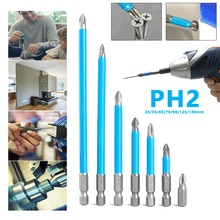 5/7pcs Screwdriver Bits 25/50/65/70/90/125/150mm PH2 Anti-slip Magnetic Bits 1/4 Hex Shank Fits Hand Electric Drill Driver