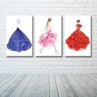 Mode bleu Rose mode pivoines photo decor a la maison nordique toile peinture mur Art affiches et impression