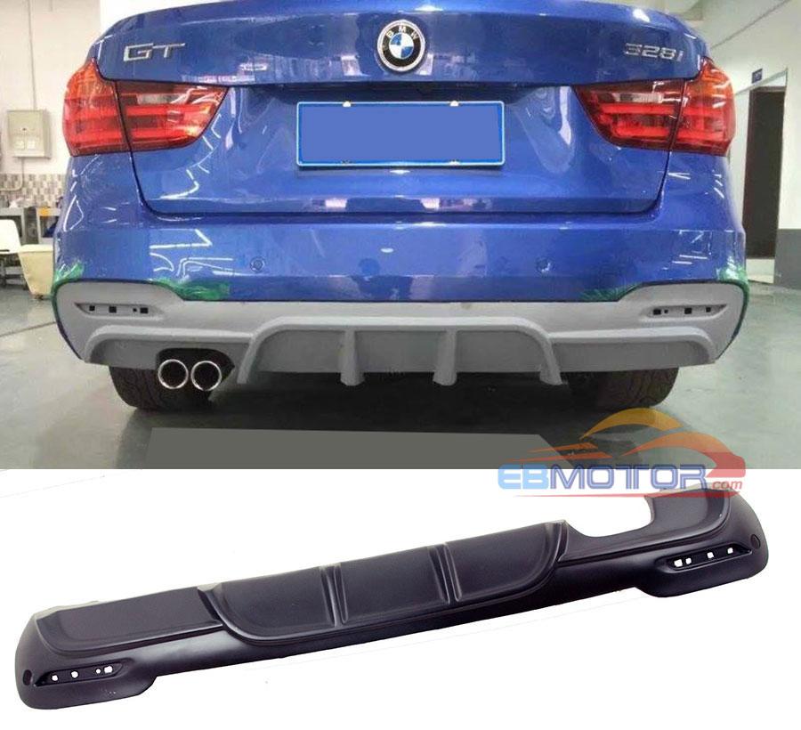Difusor trasero pintado estilo P para BMW Serie 3 F34 GT Hatchback Mtech Msport parachoques 2013UP B378F