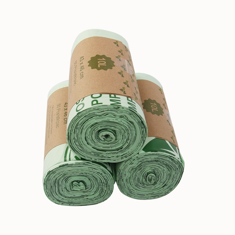 25/50 kitchen compostable bags degradable garbage bags environmental protection biodegradable garbage bags enlarge