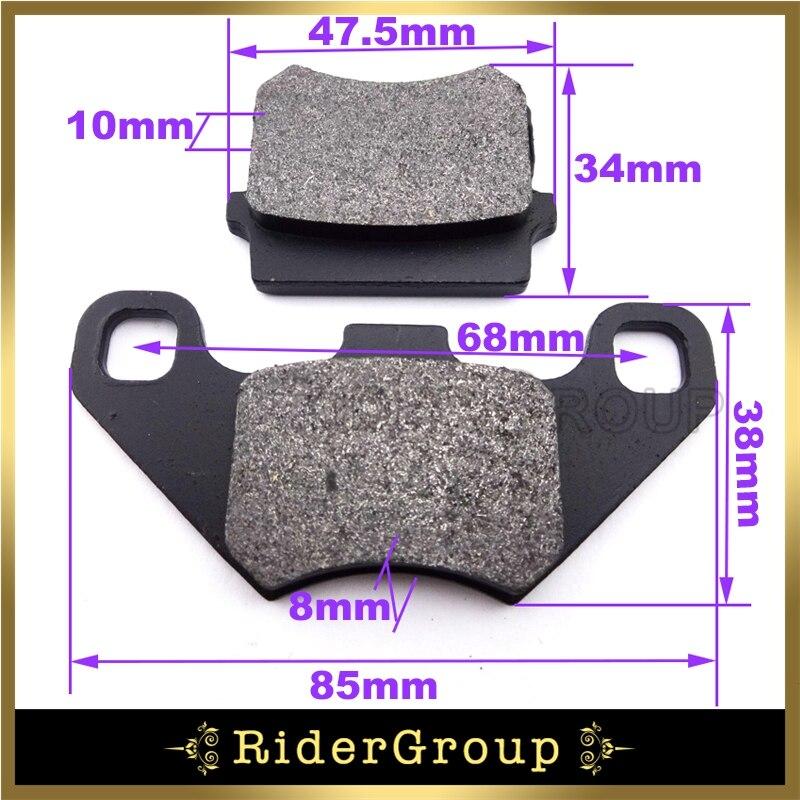 Schwarz Stahl Disc Bremsbeläge Für Kazuma Falcon Roketa TaoTao Sunl 50 70 90 110 125 140 150cc ATV Quads teile