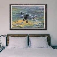 T068     peinture classique retro 74 operations de vol davion de guerre  affiche en soie personnalisee  decoration murale  cadeau de noel