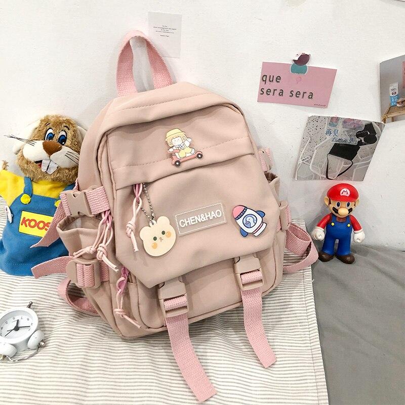 Маленький рюкзак для женщин и девочек, школьная сумка, водонепроницаемый нейлоновый Модный японский повседневный рюкзак для молодых девушек, женские Мини дорожные рюкзаки
