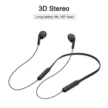 Nuevo diseño de auriculares inalámbricos estéreo 3D con Bluetooth V5.0, Auriculares deportivos para teléfono, auriculares manos libres con micrófono HD