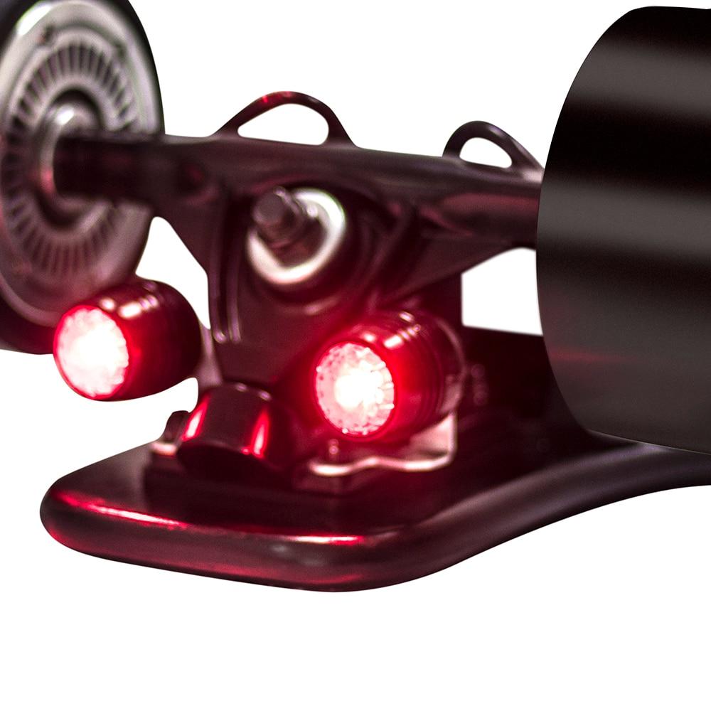 Koowheel 4Pcs Skateboard LED Lights Night Warning Safety Lights for Ourdoor 4 Wheels Skateboard Longboard
