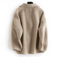 women plus size wool jacket korean oversized alpaca coat herringbone ladies coats abrigo mujer 2020 b10y06646 z