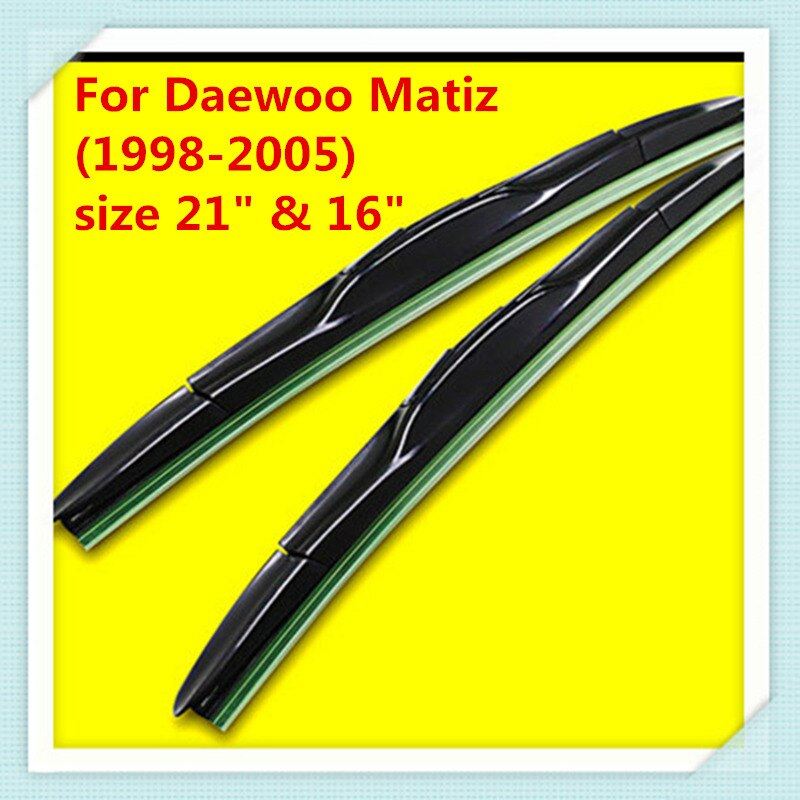 Щетка стеклоочистителя для Daewoo Matiz (1998 2005) размер 21 и 16 дюймов|windscreen wiper|rubber wiperwiper |