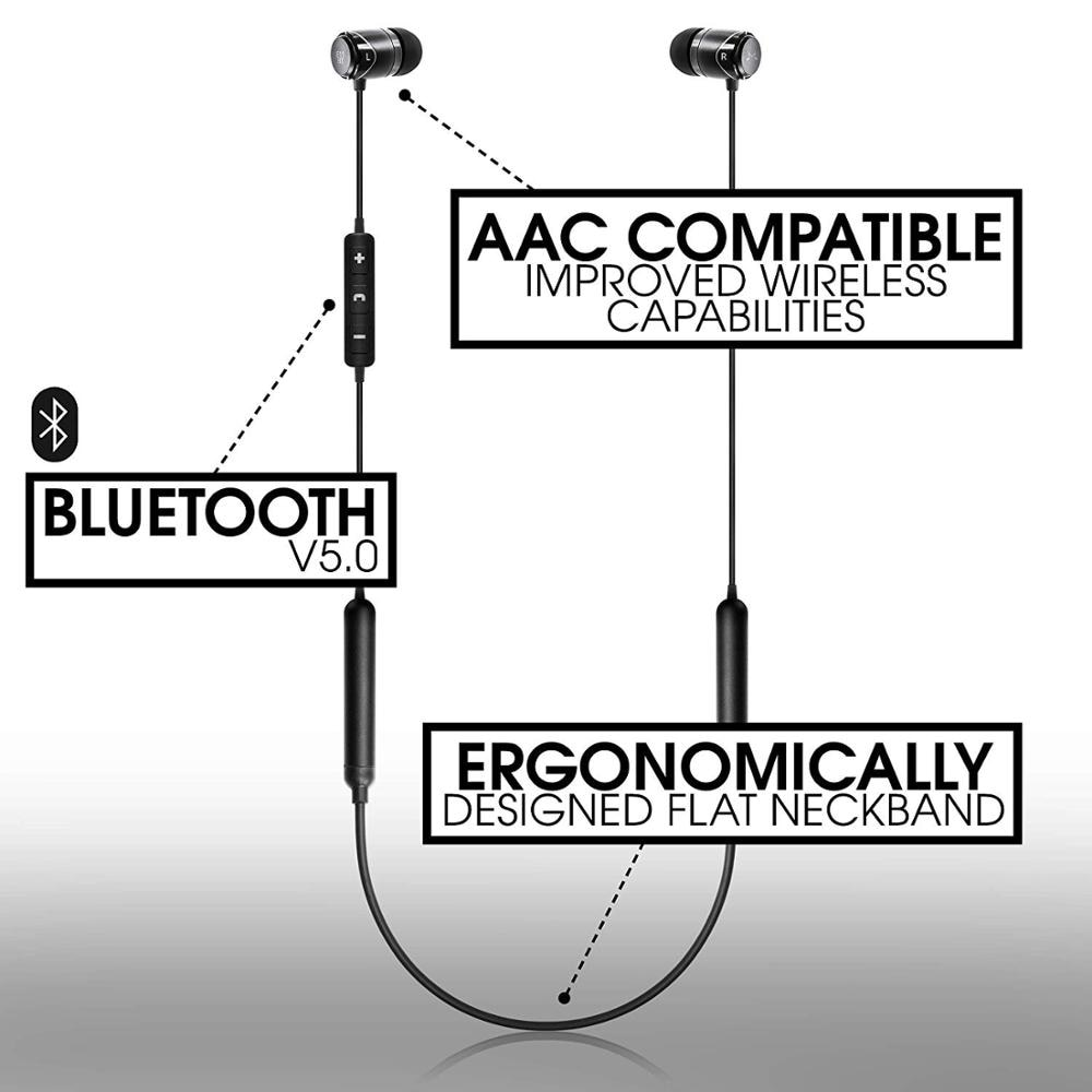 SoundMAGIC E11BT  in Ear Noise Isolating Bluetooth Neckband Earphone Hi-Fi Stereo Earbud with HD Mic for Sport, Waterproof enlarge