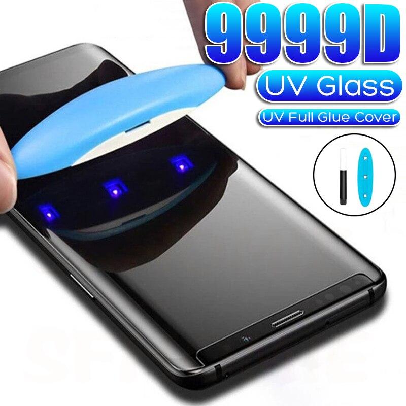 Cristal templado UV 9999D para Samsung Galaxy cristal protector para Samsung Galaxy S8 S9 S10 S20 S21 Plus Nota 20 Ultra S10E N