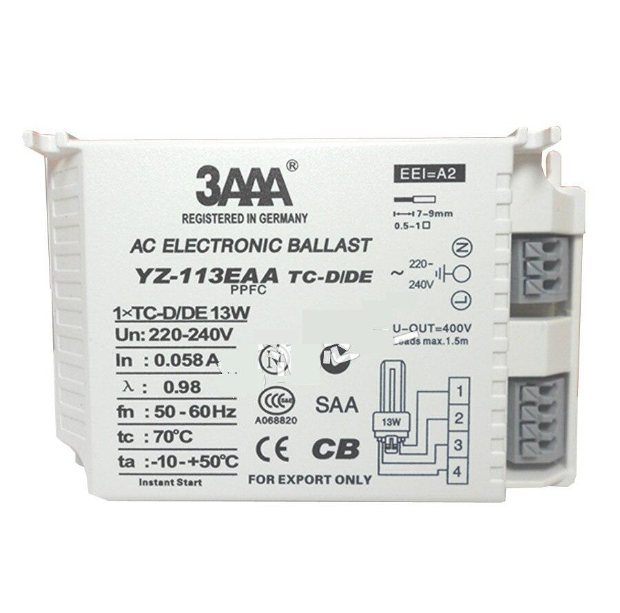 Balastos electrónicos 3AAA YZ-113EAA YZ-213EAA TC-D/DE 13W YZ-126EAA YZ-226EAA/TC-T 26W TC-TE YZ-132EAA AC PPFC PLC-T