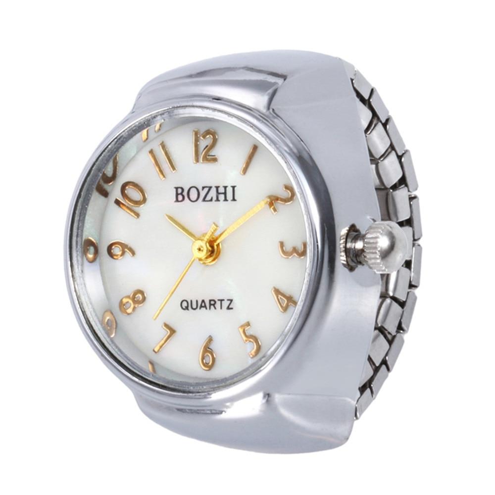 Casual Dial Quartz Analog Watch Creative Steel Cool Elastic Quartz Finger Ring Watch Wristwatches Re