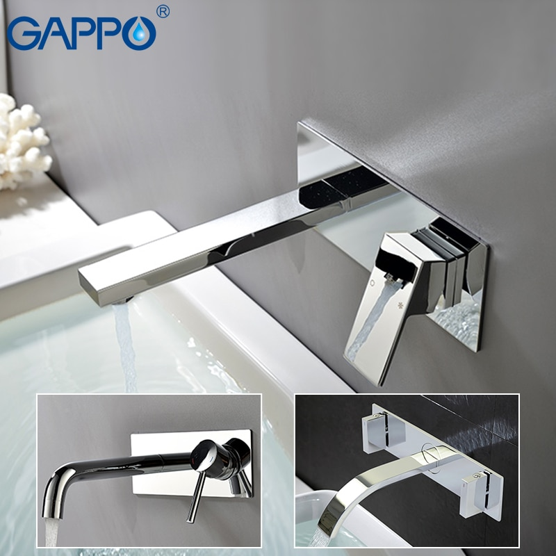 GAPPO настенные смесители для раковины, хромированные смесители для ванной комнаты, смесители для раковины, водопадный кран torneira