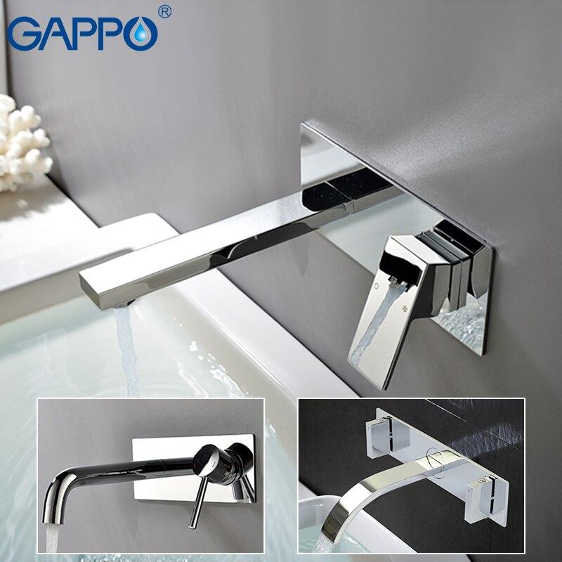 Grifos de lavabo gappo montados en la pared cromado lavabo mezclador grifos de fregadero grifo de cascada torniira
