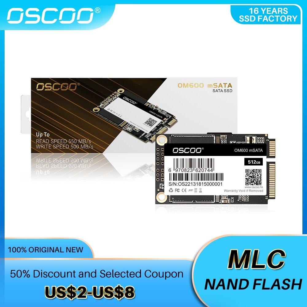 Жесткий диск OSCOO Best mSATA SSD 256 ГБ 16 ГБ 32 ГБ 64 ГБ 128 ГБ 512 ГБ для Windows 10