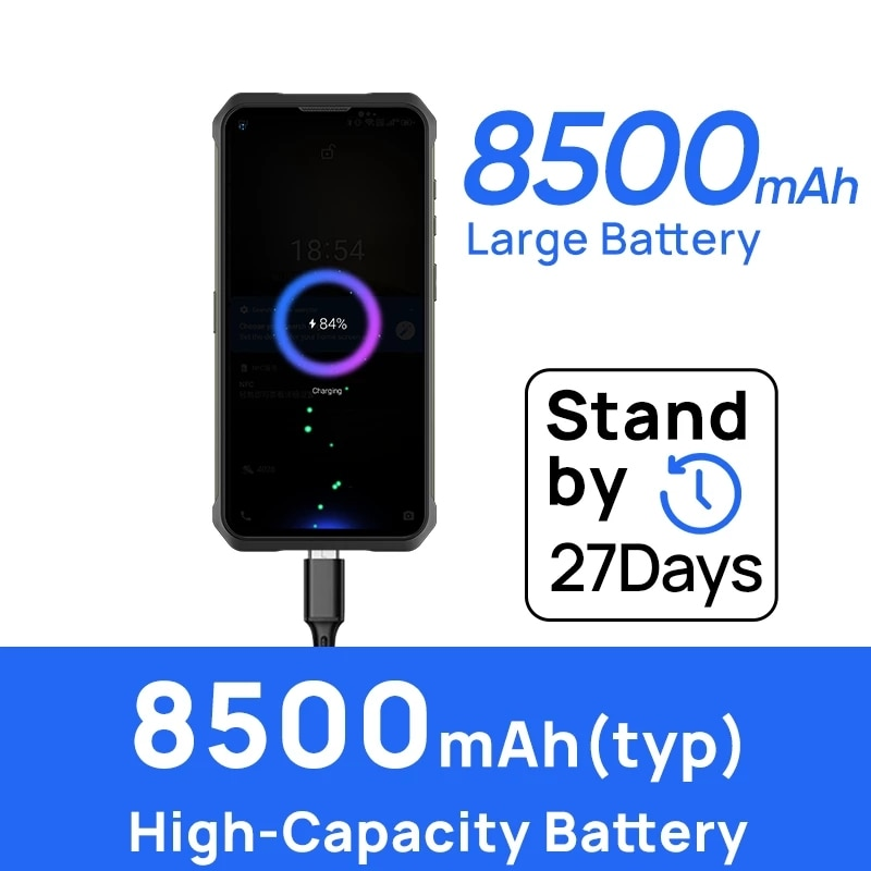 DOOGEE V10 Dual 5G Global Version Rugged Smartphone 8GB 128GB Android 11 48MP Rear Camera 8500mAh 33W Fast Charging Phone NFC enlarge