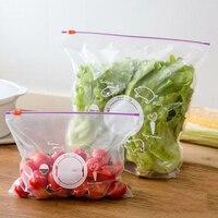 Пакеты для хранения овощей и фруктов, герметичные пакеты на молнии, 10 шт., ПВХ
