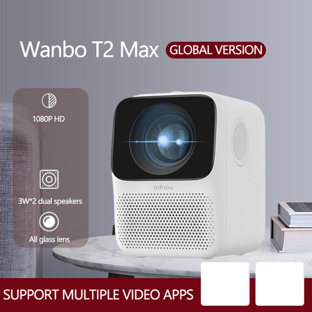 Global Version Wanbo T2 MAX LCD Projector LED Support Vertical keystone Correction Portable Mini Home Theater Xiomi Projector enlarge