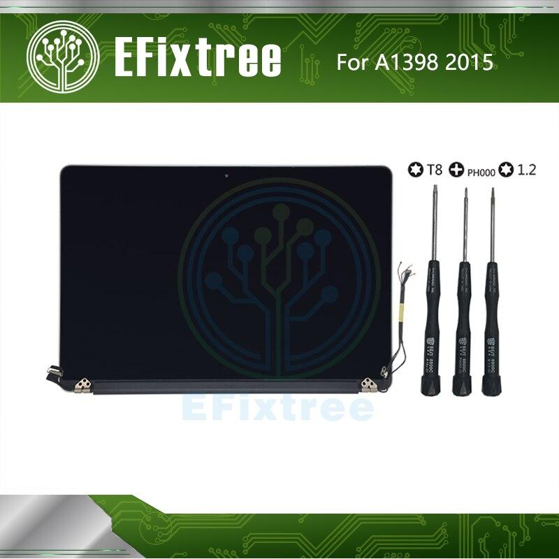 EFixtree 661-02532 15.4 インチ 2015 年表示 Macbook A1398 液晶画面ディスプレイアセンブリ完璧なテスト EMC 2909 EMC2910