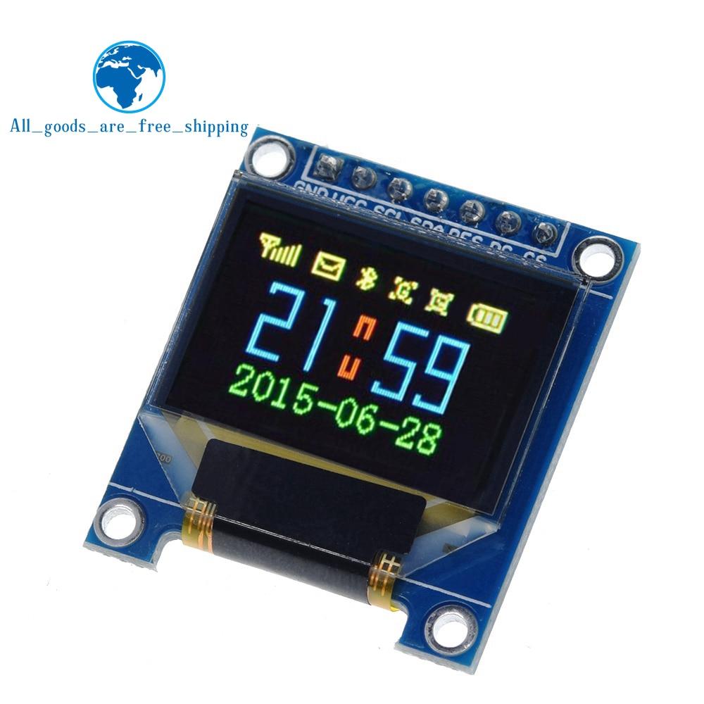 TZT 0,95 дюймовый полноцветный oled-дисплей с разрешением 96x64, SPI, параллельный интерфейс, SSD1331 контроллер 7PIN Новый с чехлом