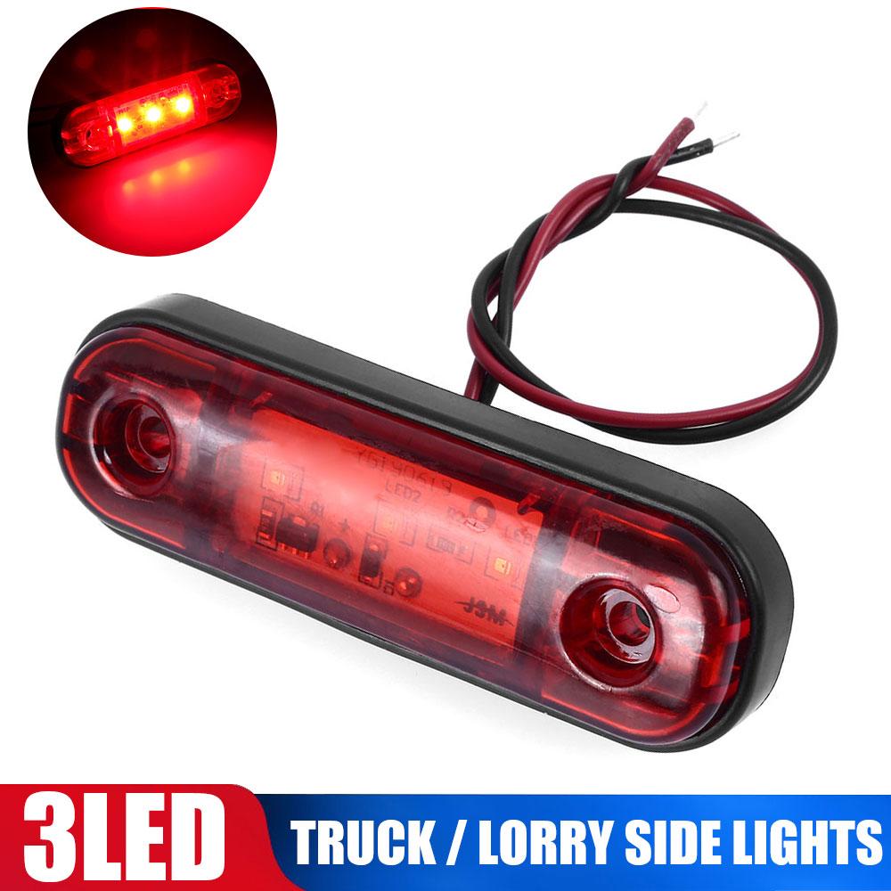 NEUE DC10-30V 3 LED Marker Licht Warnung Licht Für Lkw Anhänger Camper RV Wasserdichte Rote Auto Pickup Lampe