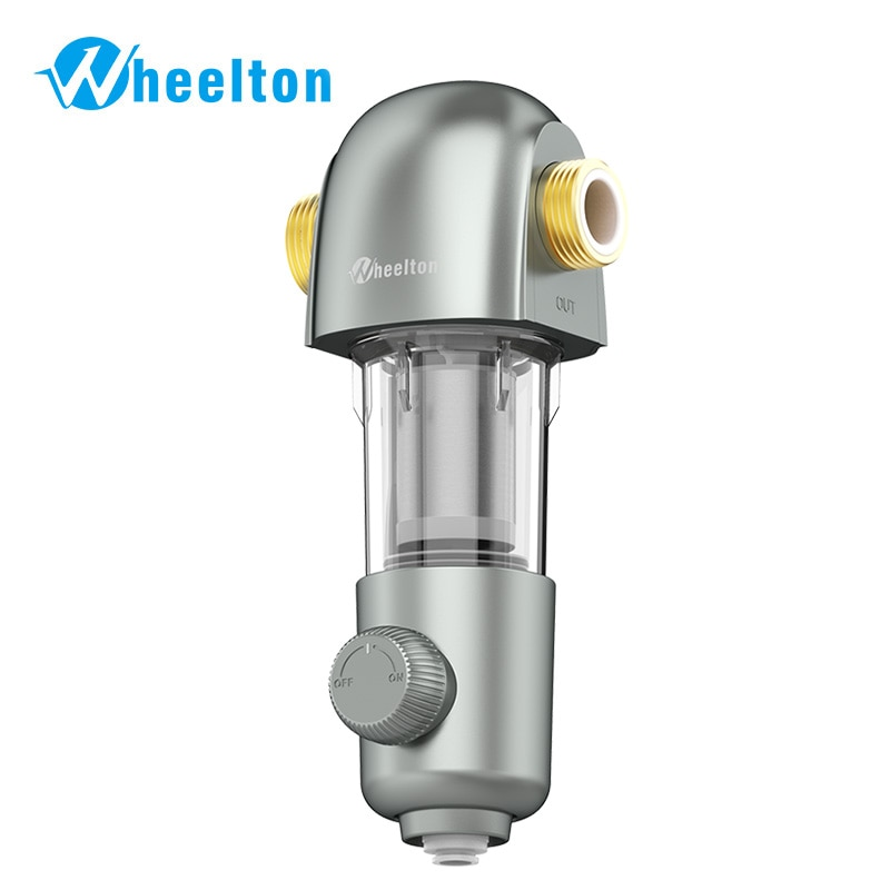 WHEELTON Whole House Water Filter System 4000L/H Large Water Yield 3/4