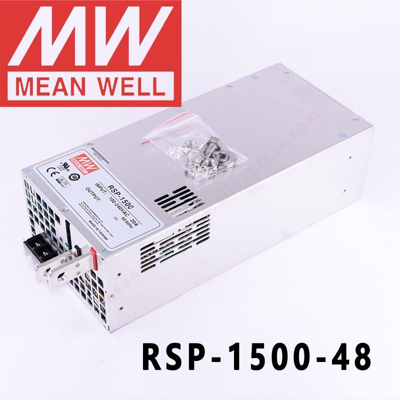 الأصلي يعني جيدا RSP-1500-48 ميانويل 48VDC/0-32A/1536 واط إخراج واحد مع وظيفة معامل تصحيح الطاقة امدادات الطاقة