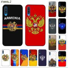 FHNBLJ Armenia Albania Russia flag Emblem  TPU black Phone Case Cover Hull for Samsung A10 20s 71 51 10 s 20 30 40 50 70 A30s