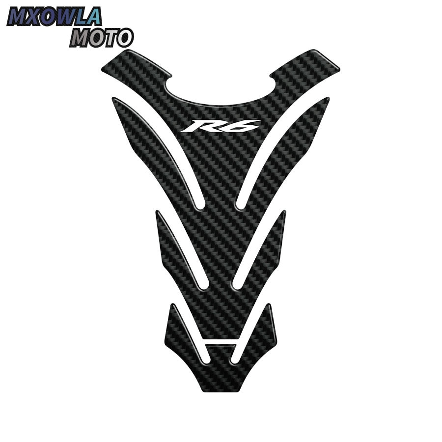 3D Carbon Look Motorcycle Tank Pad Protector Decal Stickers Case For  R6 YZF YZF- YZF   Sticker