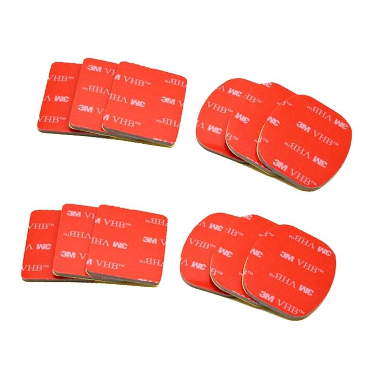 Adhesivo VHB doble plano curvo montaje casco tabla de surf para Smoth Surfaced cascos para Gopro Hero 8/7/6/5/4/3/3 + pegatina